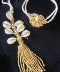 Crystal Cowrie shell rakhi
