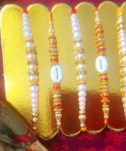 Beautiful Set of 5 rakhi design #2