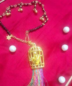 Black beads cage rakhi