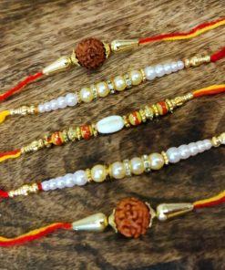 Beautiful Set of 5 rakhi design #1
