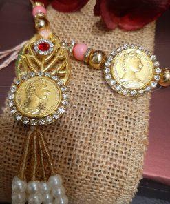 Beautiful Ginni Jeweled Rakhi Set